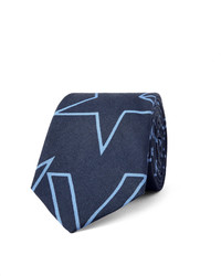 Corbata estampada azul marino de Givenchy