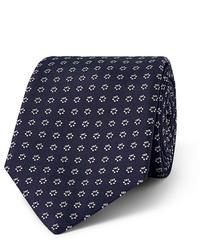 Corbata estampada azul marino de Hugo Boss