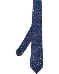 Corbata estampada azul marino de Lanvin