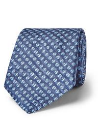 Corbata estampada azul de Canali