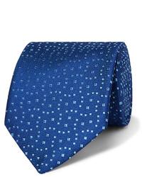 Corbata estampada azul de Charvet