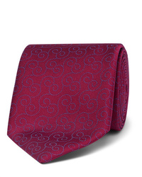 Corbata estampada burdeos de Charvet