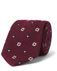 Corbata estampada burdeos de Drake's