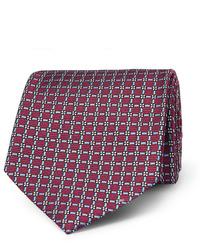 Corbata estampada burdeos de Ermenegildo Zegna