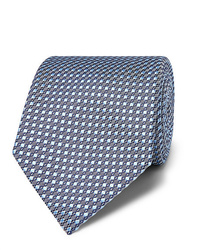 Corbata estampada celeste de Brioni