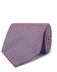 Corbata estampada celeste de Charvet