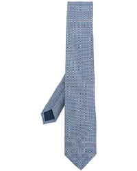 Corbata estampada celeste de Salvatore Ferragamo