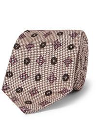 Corbata estampada en beige de Rubinacci
