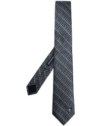 Corbata estampada en gris oscuro de Alexander McQueen