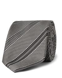 Corbata estampada en gris oscuro de Tom Ford