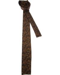 Corbata estampada en marrón oscuro de Emilio Pucci
