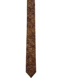 Corbata estampada en marrón oscuro de Neil Barrett