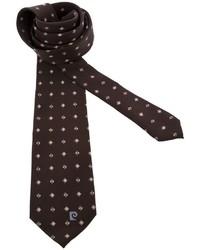 Corbata estampada en marrón oscuro de Pierre Cardin