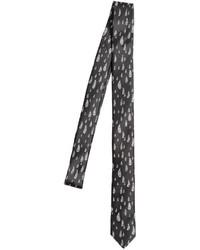 Corbata estampada en negro y blanco
