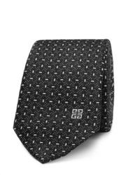 Corbata estampada en negro y blanco de Givenchy