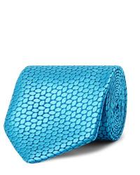 Corbata estampada en turquesa de Charvet