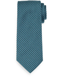 Corbata estampada en verde azulado