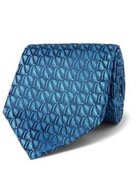 Corbata estampada en verde azulado de Charvet