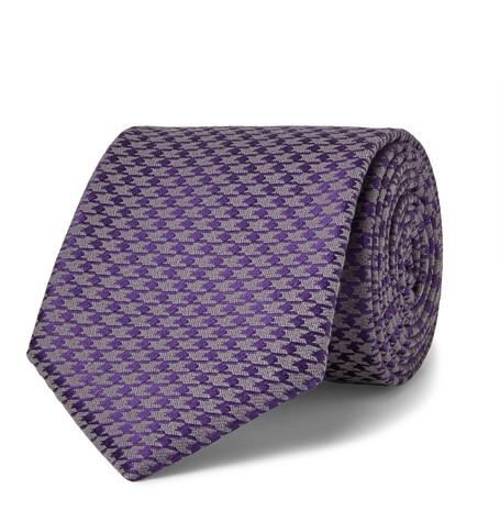 Corbata estampada en violeta de Charvet