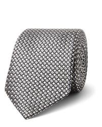 Corbata estampada gris de Giorgio Armani
