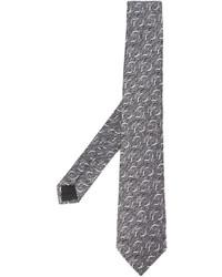 Corbata estampada gris de Lanvin