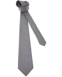 Corbata estampada gris de Saint Laurent