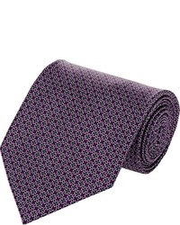 Corbata estampada morado oscuro