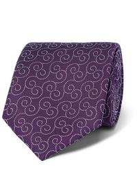 Corbata estampada morado oscuro de Charvet