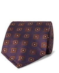 Corbata estampada morado oscuro de Drake's