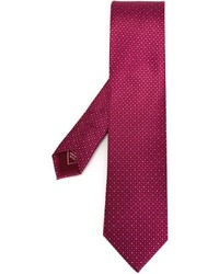 Corbata estampada morado de Brioni
