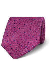 Corbata estampada morado de Charvet