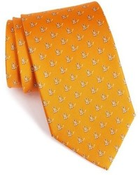 Corbata estampada naranja