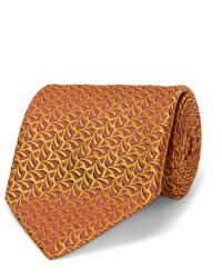 Corbata estampada naranja de Charvet