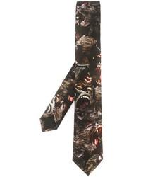 Corbata estampada negra de Givenchy