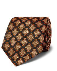 Corbata estampada negra de Kingsman