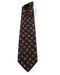 Corbata estampada negra de Ungaro