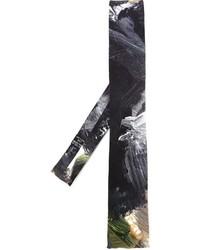 Corbata estampada negra de Yohji Yamamoto