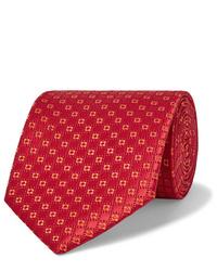 Corbata estampada roja de Charvet