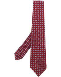 Corbata estampada roja de Kiton