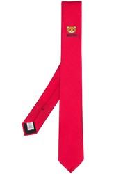 Corbata estampada roja de Moschino
