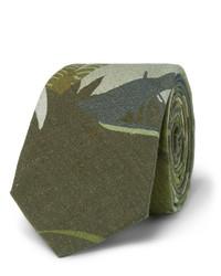 Corbata estampada verde oliva de Valentino