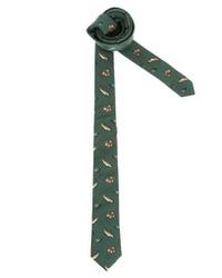 Corbata estampada verde oscuro de Asos