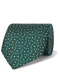 Corbata estampada verde oscuro de Charvet