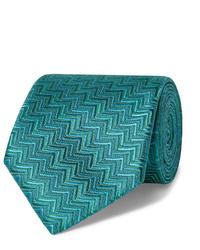 Corbata estampada verde de Charvet