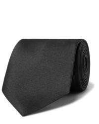 Corbata negra de Alexander McQueen