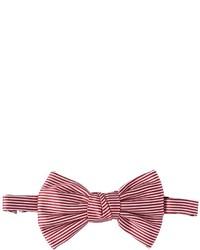 Corbatín de rayas horizontales rojo