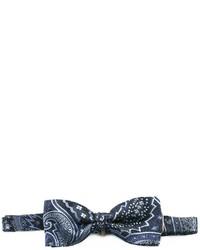 Corbatín de seda azul marino de Etro