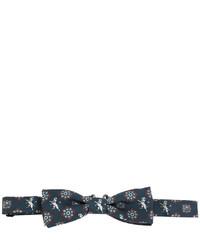 Corbatín de seda estampado azul marino de Dolce & Gabbana