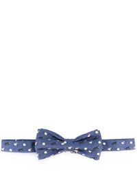 Corbatín de seda estampado azul de fe-fe