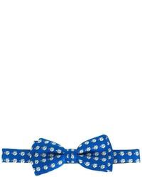 Corbatín de seda estampado azul de Salvatore Ferragamo